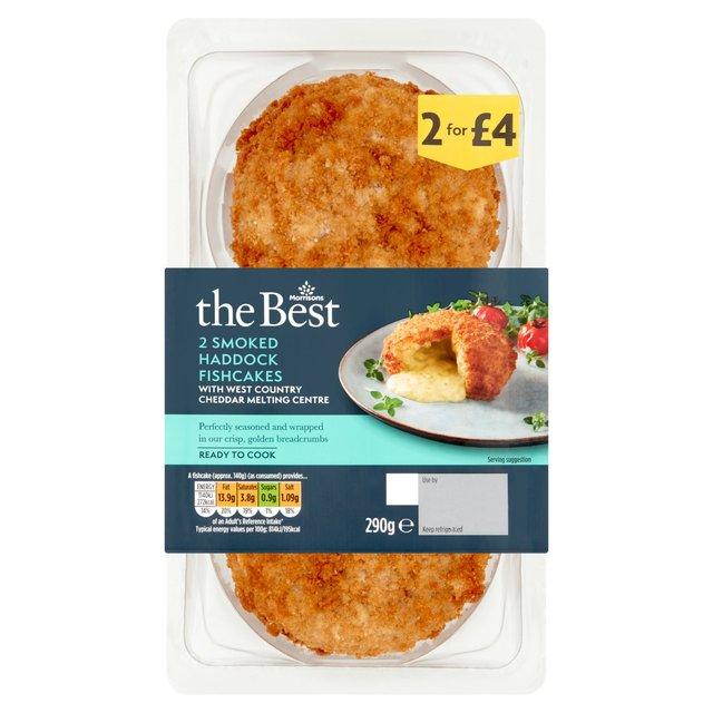 Morrisons The Best Saucy Smoked Haddock & Davidstow Cheddar Fishcakes