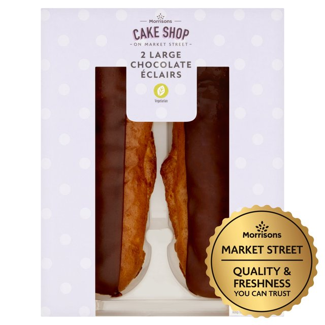 Morrisons Large Chocolate Éclairs