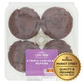Morrisons Triple Chocolate Muffins