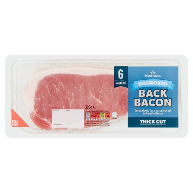 Morrisons Extra Thick Unsmoked Back Bacon Rashers