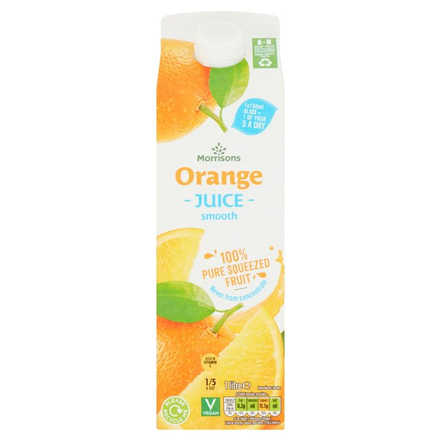 Morrisons 100% Fruit Smooth Orange Juice