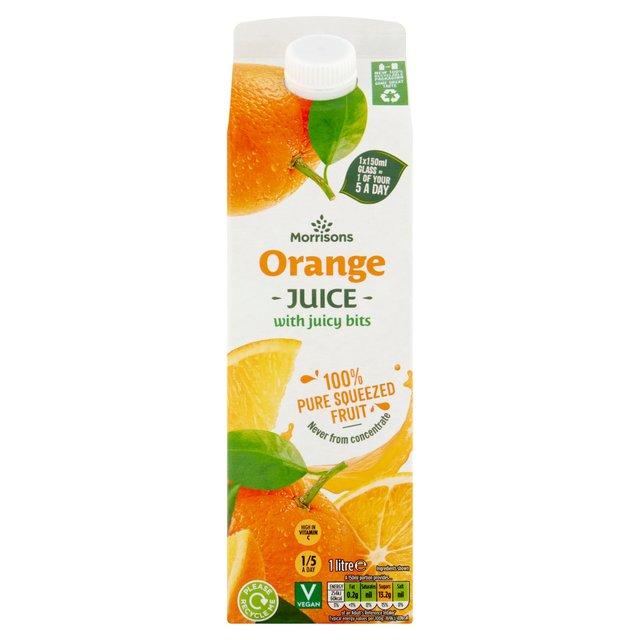 Morrisons 100% Orange Juice with Bits