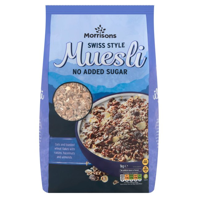 Morrisons No Added Sugar Swiss Style Muesli