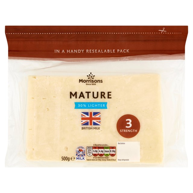 Morrisons 30% Lighter Mature Cheese