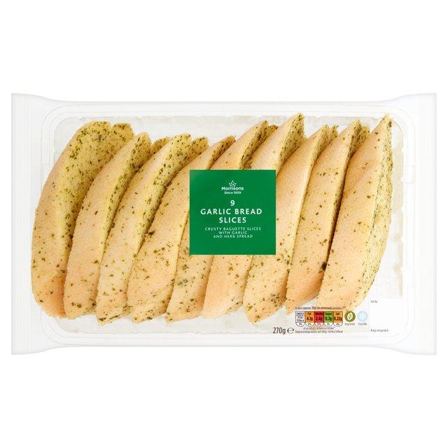 Morrisons Garlic Bread Slices 9 Pack