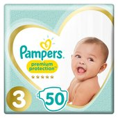 Pampers Premium Protection Size 3 Nappies, 6-10kg