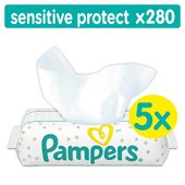 Pampers Sensitive 5 Packs 280 Baby Wipes