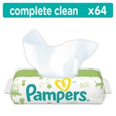 Pampers Natural Clean Fragrance Free Baby Wipes Single Pack