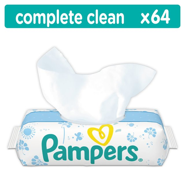 Pampers Fresh Clean Single Pack 64 Baby Wipes