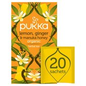 Pukka Lemon, Ginger & Manuka Honey Tea Bags 20s