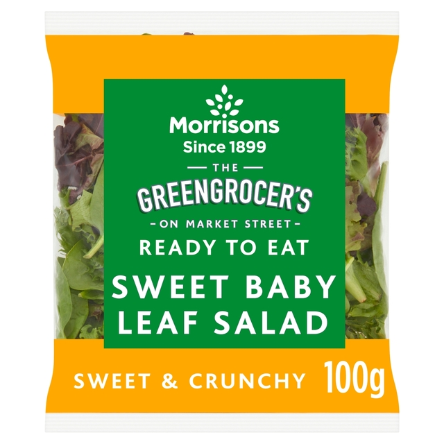 morrisons morrisons sweet baby leaf salad 100g product information. Black Bedroom Furniture Sets. Home Design Ideas
