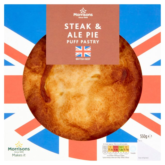Morrisons Puff Pastry Steak & Ale Pie