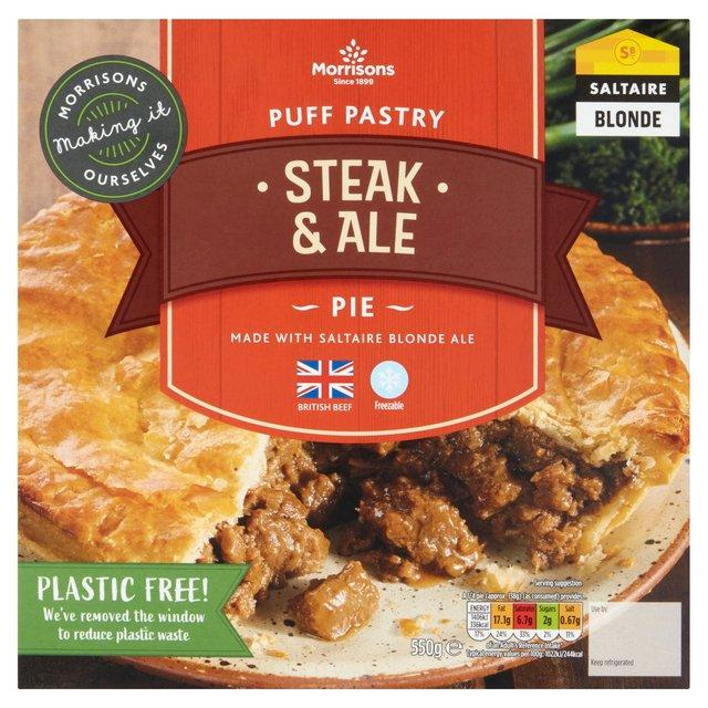 Morrisons: Morrisons Puff Pastry Steak & Ale Pie 550g ...