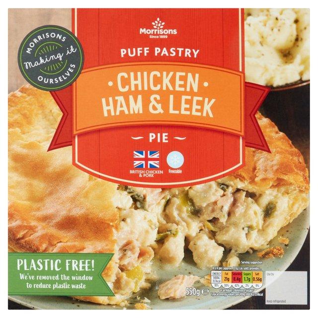 Morrisons: Morrisons Puff Pastry Chicken, Ham & Leek Pie ...