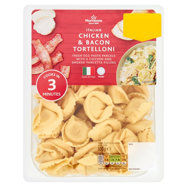 Quorn Nuggets Advert: Morrisons: Morrisons Chicken & Bacon Tortelloni 300g