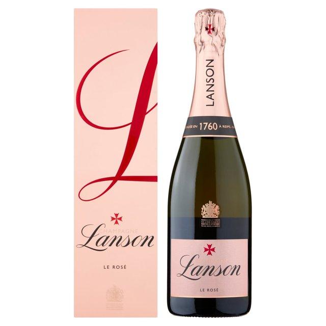 Lanson Rose Label Champagne Nv 75cl
