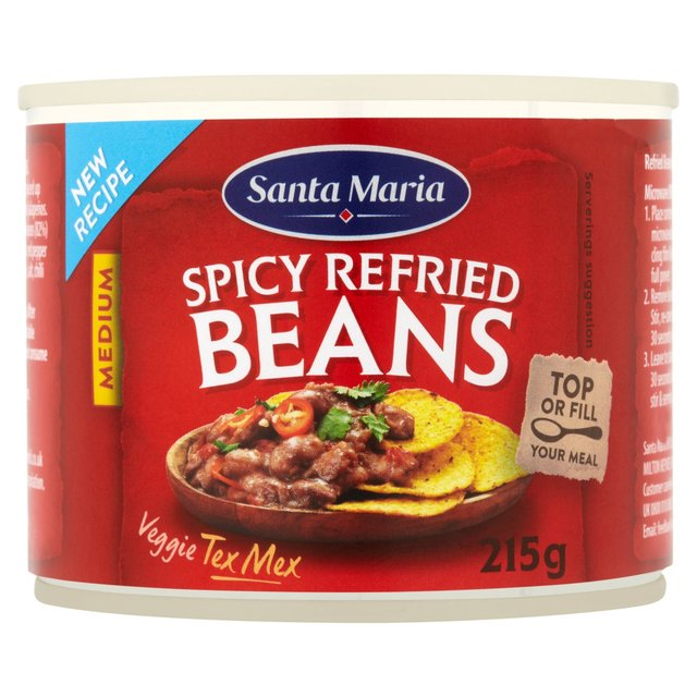 Morrisons: Santa Maria Spicy Refried Beans 215g(Product Information)
