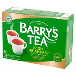 Barrys Tea Irish Breakfast Tea Bags 80 Pack