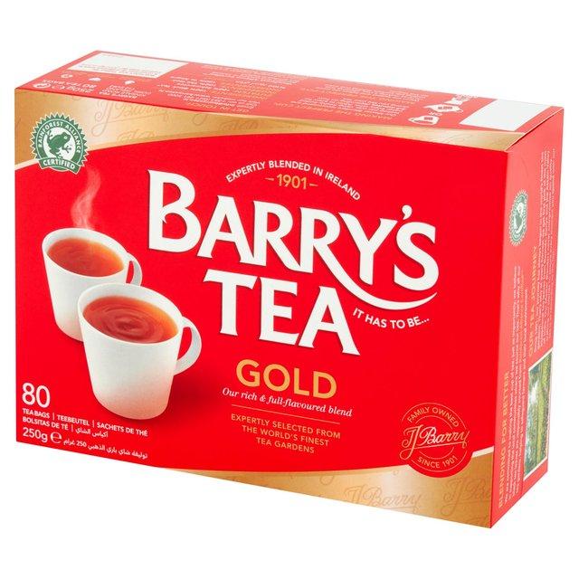 Morrisons Barrys Tea Gold Blend Tea Bags 80 Pack 250g