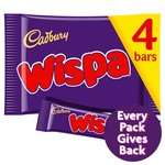 Cadbury Wispa Chocolate Bar 4 Pack