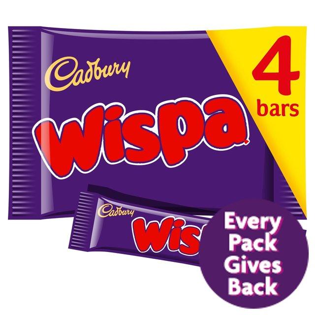 Cadbury Wispa Chocolate Bar 4 Pack