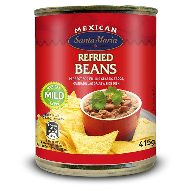 Morrisons: Santa Maria Refried Beans (Product Information)