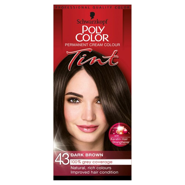 Morrisons: Schwarzkopf Poly Color Natural Dark Brown 43 ...