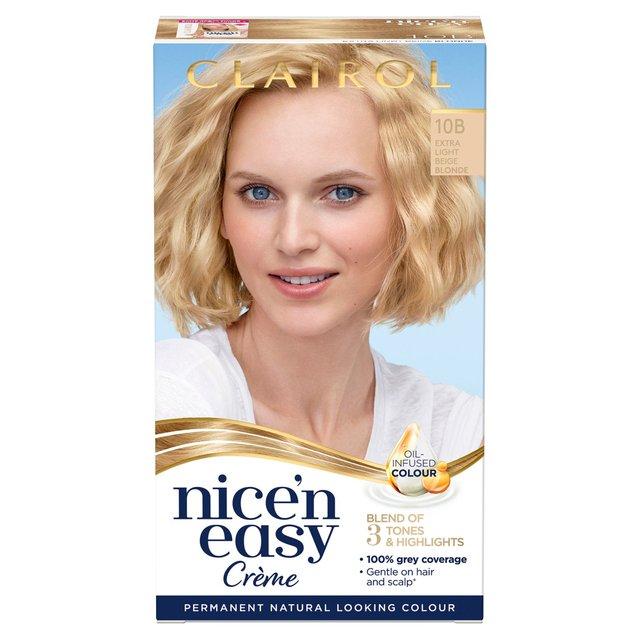 Nice'N Easy Permanent Hair Dye 10B Extra Light Beige Blonde