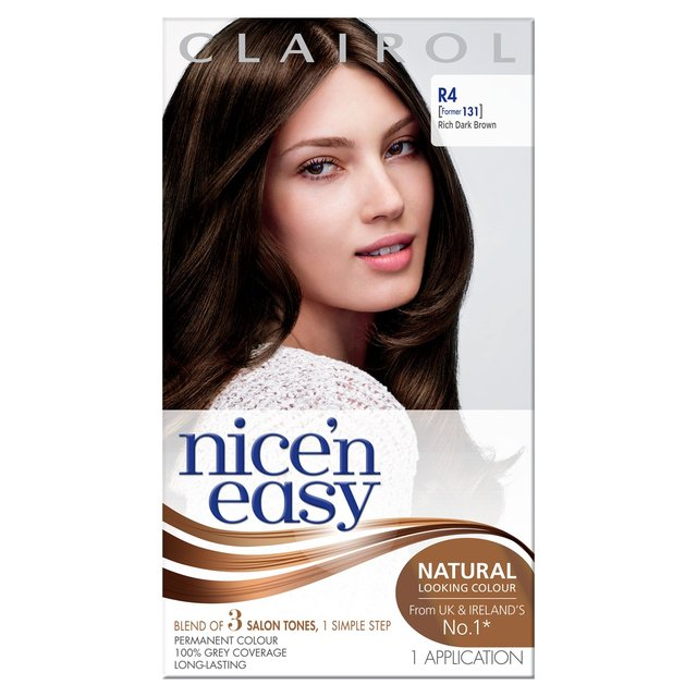 nice n easy permanent colour r4 rich dark brown 131 hair dye - Clairol Nice And Easy Colors