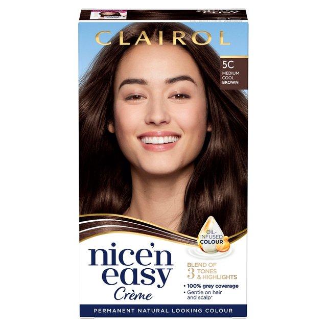 Nice 'N Easy Permanent Colour 5C Natural Medium Cool Brown (117D) Hair Dye