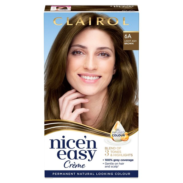 Nice 'N Easy Permanent Colour 6A Natural Light Ash Brown (114) Hair Dye