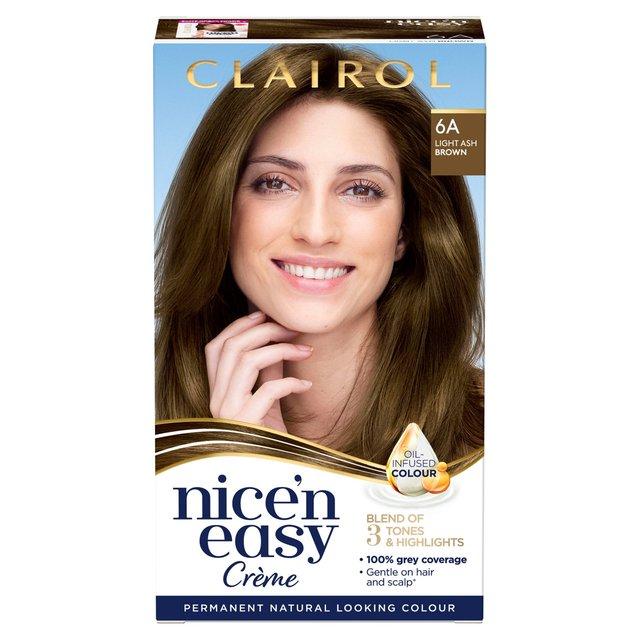 Nice U0027N Easy Permanent Colour 6A Natural Light Ash Brown (114) Hair Dye