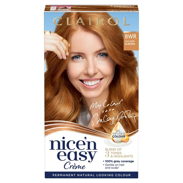 Nice 'N Easy Permanent Colour 8WR Natural Golden Auburn (108) Hair Dye