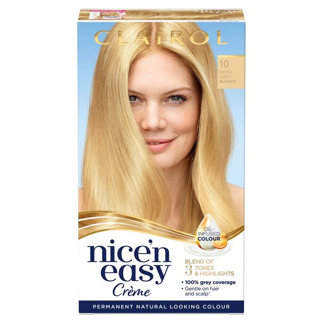 Nice'n Easy Permanent Colour 10 Natural Extra Light Blonde (98) Hair Dye