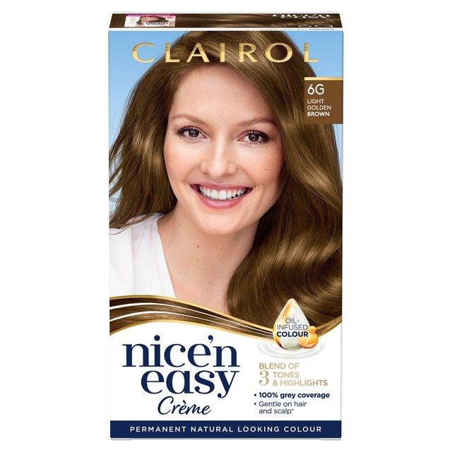 Nice N Easy Permanent Colour 6g Natural Light Golden Brown 116a Hair Dye