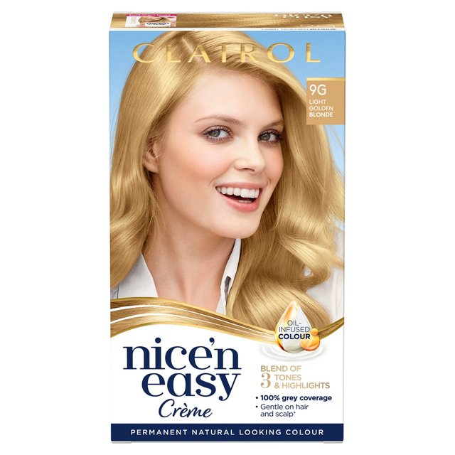 Nice'N Easy Permanent Colour 9G Natural Light Golden Blonde (102G) Hair Dye