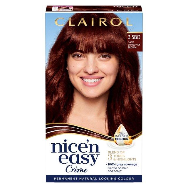 Nice 'N Easy Permanent Hair Colour 3.5BG Natural Dark Burgundy Brown (113A)