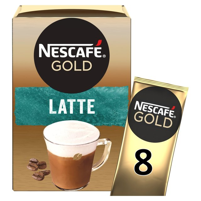 Morrisons Nescafe Gold Latte Coffee 8 Sachets X 195g 156g