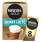 Nescafe Gold Skinny Latte Coffee 8 Sachets x 19.5g