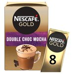 Nescafe Gold Double Chocolate Mocha Coffee 8 Sachets x 23g