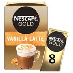 Nescafe Gold Vanilla Latte Coffee 8 Sachets x 18.5g