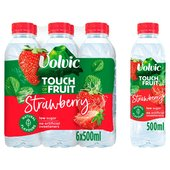 Volvic Strawberry Touch Of Fruit Low Sugar Natural Flavoured Water