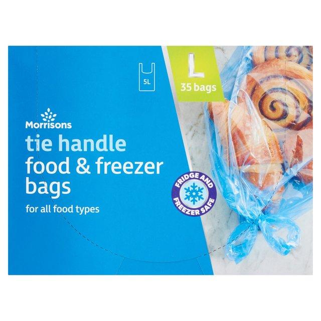 morrisons large tie handle food u0026 freezer bags