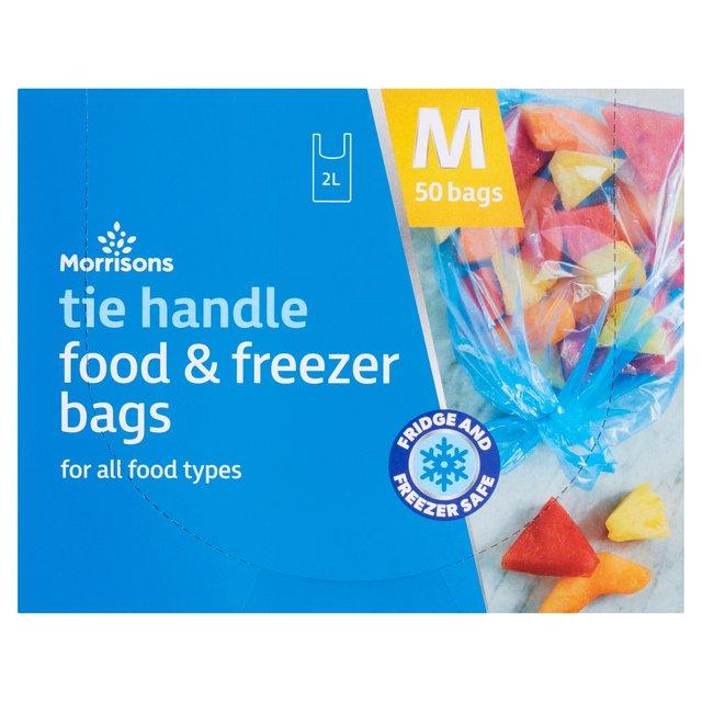 morrisons medium tie handle food u0026 freezer bags