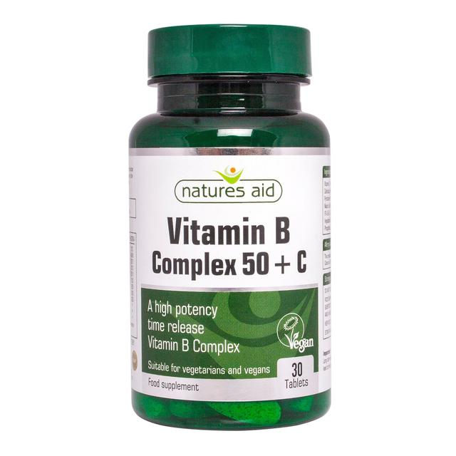 Natures Aid Vitamin B Complex 50 + C Tablets