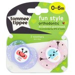 Tommee Tippee Closer To Nature 0-6 Months Fun Soothers