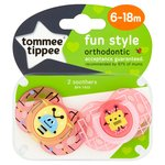Tommee Tippee Closer To Nature 6-18 Months Fun Soothers