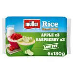 Muller Rice Raspberry & Apple Low Fat Multipack Dessert