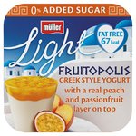 Muller Light Fruitopolis Greek Style Peach & Passionfruit Yoghurts