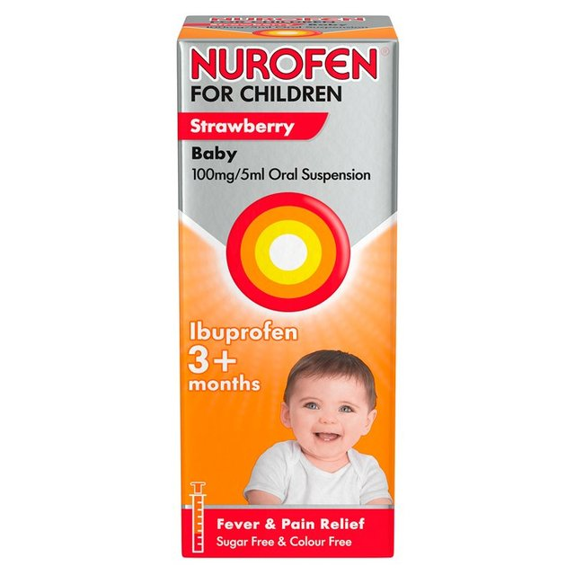 Nurofen for Children Baby Strawberry Liquid Ibuprofen